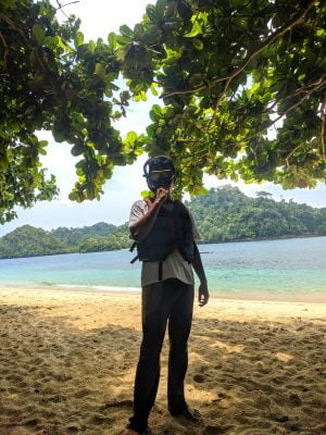 Free Diving di Pantai Tiga Warna