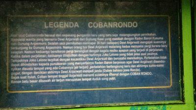 asal muasal legenda dan nama coban rondo